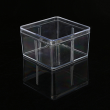 Large capacity square clear hard plastic box