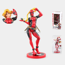 Marvel bishoujo statue figure lady deadpool sexy 23cm cute toy ation figure