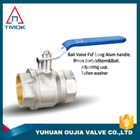 brass ball valve with long stem angle valve gas control valve polishing full port PPR and DN40 PN16 with forged hydraulic lock