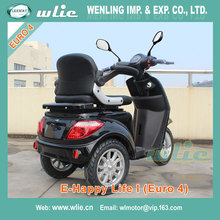 Best selling cheap price electric scooter motocycle motorcycle 800W 3 wheel with Euro 4 EEC COC (E-Happy Life I)