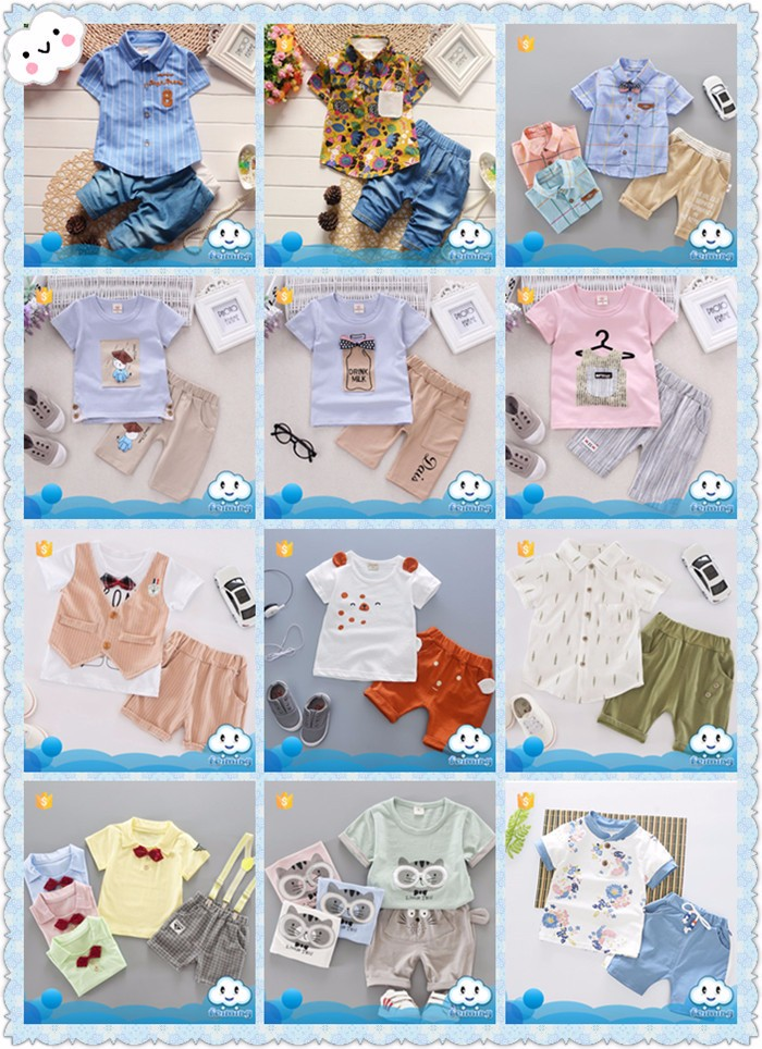Ss 824b Indian Clothing Whole Top 100 Baby Boy Names Image Two Pieces Toddler