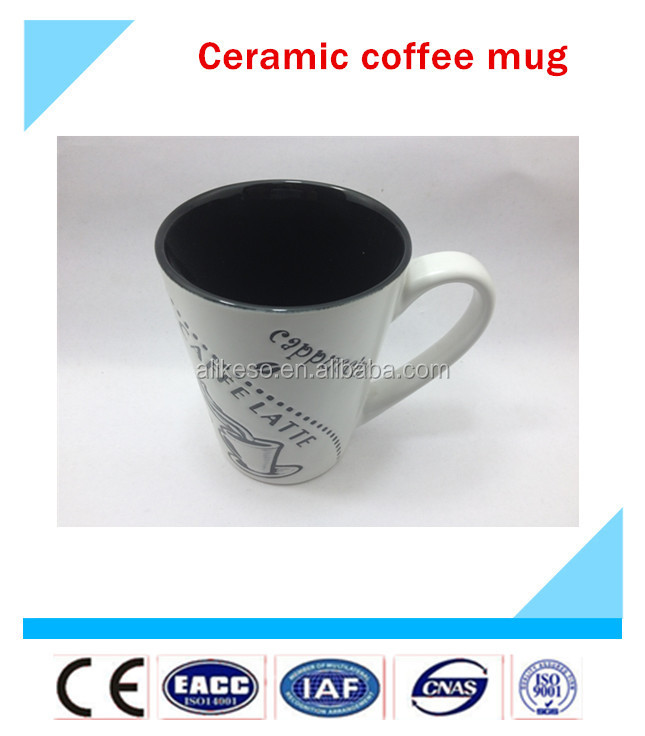 Hot sale! high quality ceramic coffee mug shapes cappuccino cup
