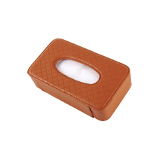 Wholesale High Quality Handmade Fashion leather tissue box holder for car