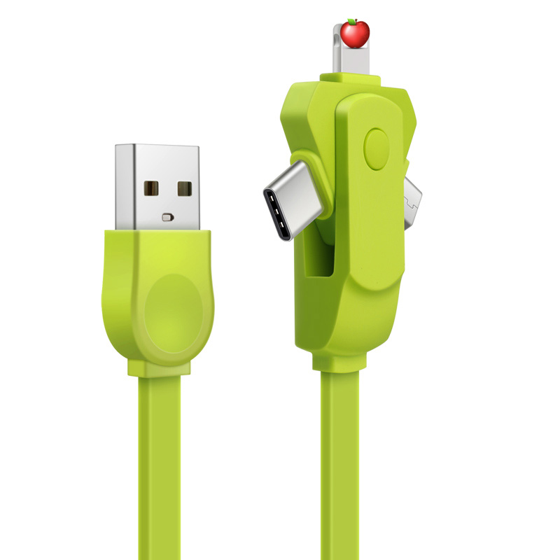 2018 Christmas Promotional OEM Data 3in1 Charging Cable 3in1 For Iphone and Type <strong>C</strong> and Micro