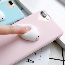 Cute Finger Pinch Lovely Squishy Squeeze 3D Soft Silicone Phone Case Cover For iphone 7 7plus 6 6plus 5s