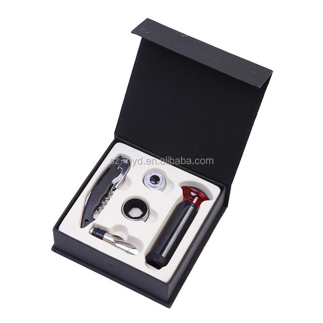 NT-WS04 elegant 5 pieces wine tools gift air pump wine opener set