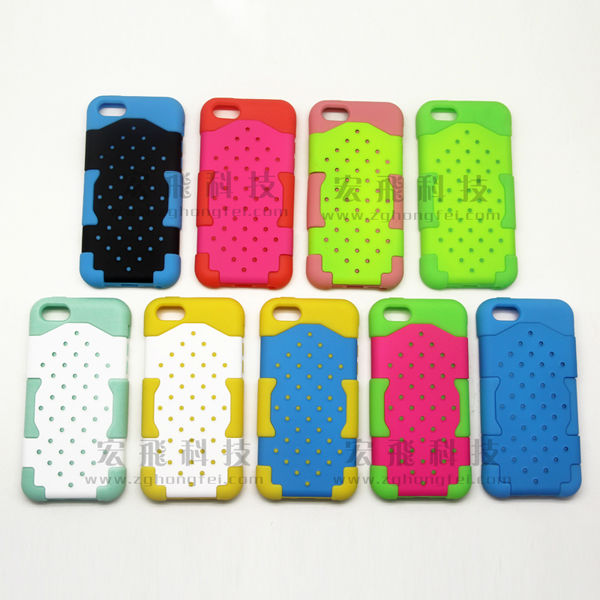 Hybrid 2 in 1 Silicone + PC Back Hard Case Cover For iPhone 5C