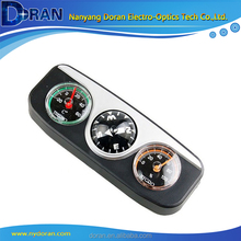 Car Thermometer Hygrometer Compass Ball Triple Guide the Ball Car Compass