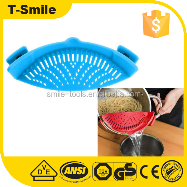 Hot Amazon Universal Pan Pot Spaghetti Snap Strainer