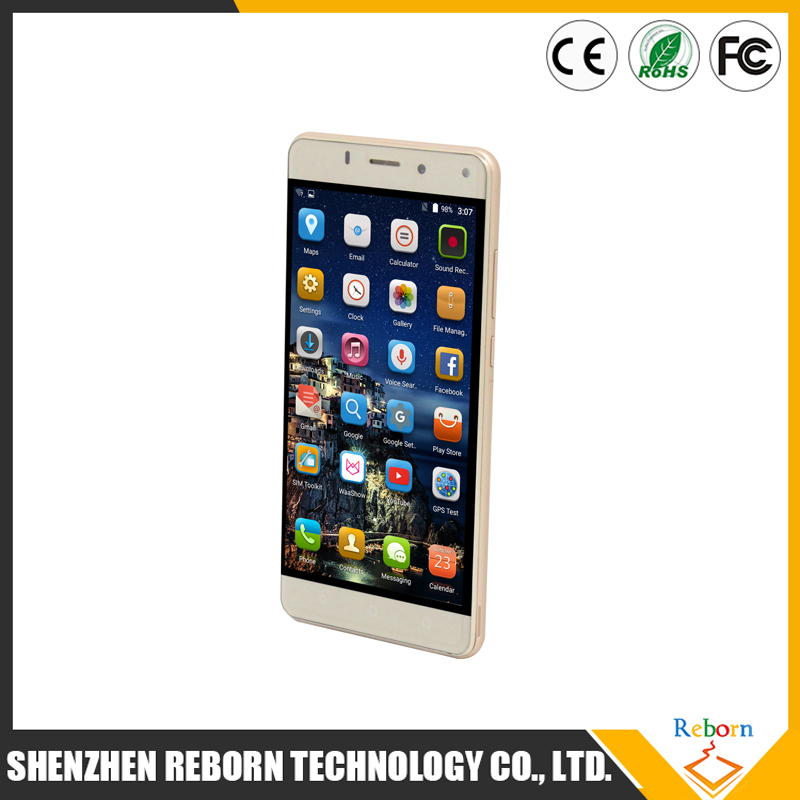 Customized OEM 5.5inch MT6580 Dual SIM Cell Phone / phone mobile / mobile phone manufacturer in ShenZhen