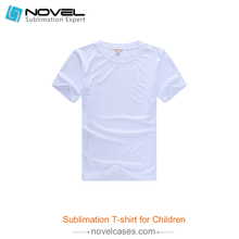 Sublimation White Blank Polyester <strong>T-shirt</strong> For Kids