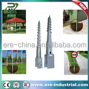 U plate ground screw for fencing and trellis