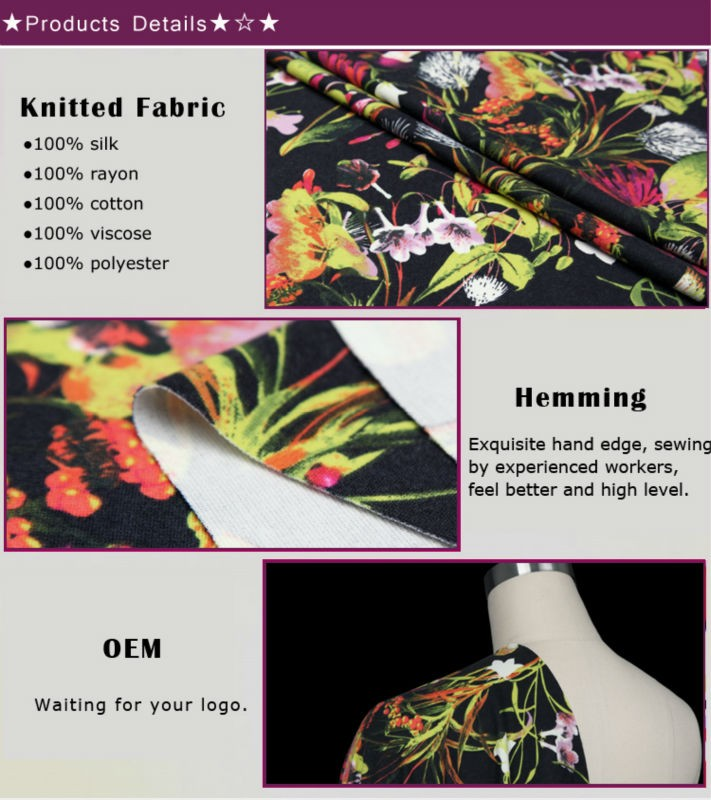 Digital Print polyester knitted fabric -HF8