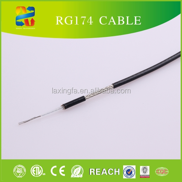 China high quality Low Loss RG174 cable for telecom communication