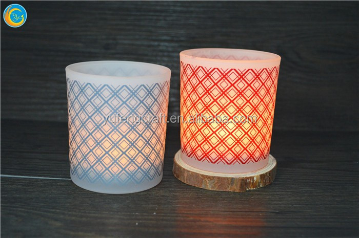 glass block print web design glass jars / containers for candle/ hand carved candle holders