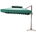 outdoor patio side umbrella aluminum rome umbrella 3*3m hotel parasol factory price