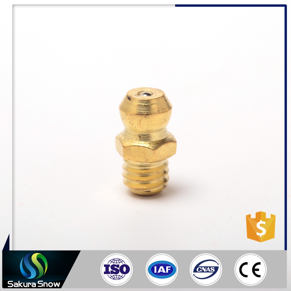 2016 New Arrival Best-Selling m8x1 90 degree brass zerk grease fitting