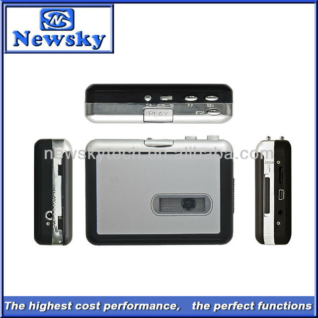 Portable USB Cassette Player to MP3 /High Quality Retro Car MP3 Player&Cassette Recorder