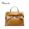 Genius handwork bowknot nappa leather handbags ladies fashion tote bag