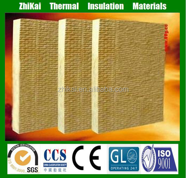 Fireproof insulation rock wool board for internal and external wall