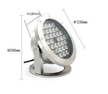 36w led underwater light stainless material