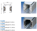 Surface or recessed 3 phase 4 wires architectural track rail system