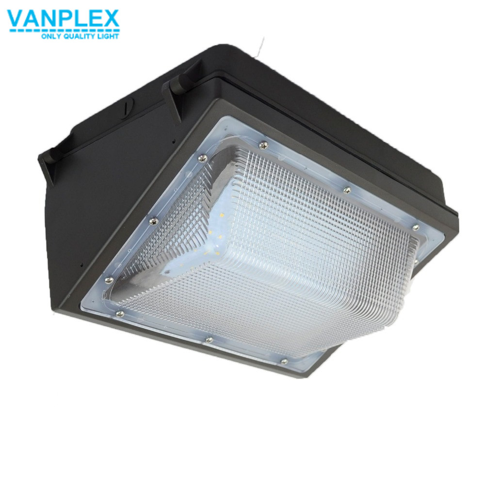 Vanplex Discount 60W LED Wall Pack Light Fixtures, IP65 Wall Lamps ETL DLC Listed