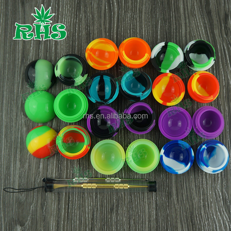 Factory Supplies silicone case,silicon caontainer silicone jars dabs wax