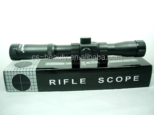4x20 Hunting Rifle Crosshair Scope Tactical Military Gun Airsoft Riflescope for 22 Caliber