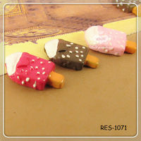 10 x 20 mm Ice Cream Bar Food Resin Cabochons DIY Supplies Phone Case Strawberry Vanilla