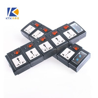 5 Way Black Individual Switch Lightning Surge Protector Power Strip