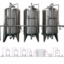 Drinking water purification treatment system
