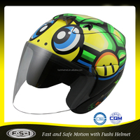 Animal design novelty open face funny motorcycle helmet for dirt motorbike helmet