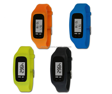 Hot Sale LCD Fitness Pedometer Silicone Bracelet Watch