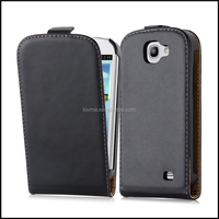 Luxury Genuine Real Flip Leather Case Wallet Cover for Samsung Galaxy Express I8730