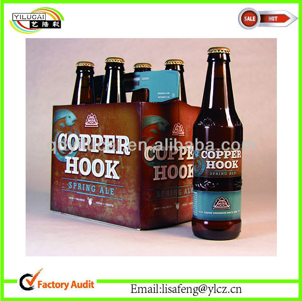 Sales Kraft box for Bottle Beer/wine Carriers box