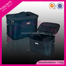 Noconi Professional Custom Made Microfiber Cosmetic Bag Black Soft Makeup Case