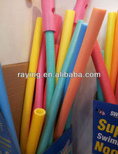 2016 Colorful soft pool noodles for swim with PDQ packaging outdoor water