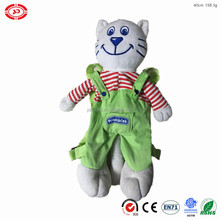 Cat shape plush bag brands export soft CE custom toy