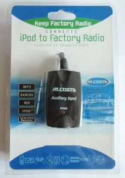 Aux adapter for car radio (CE FCC RoHS approved)