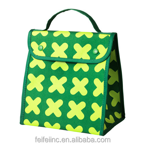 Recycled wine bottle cooler tote bag for wine