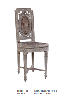 Rectangle Back Mini Chair in French Finish