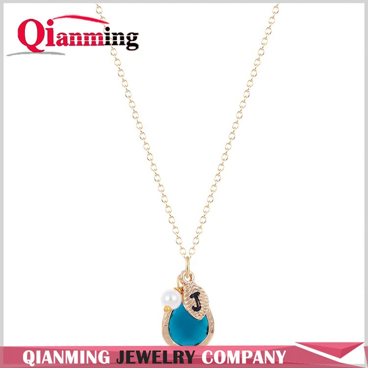 Modern style custom design alloy chain black necklaces manufacturer sale