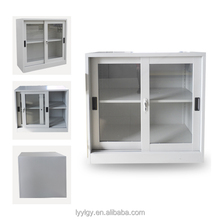 sliding door small metal storge cabinet Metal furniture Glass key cabinet made in China