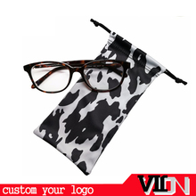 custom logo microfiber soft sunglasses pouch with drawstring bag sunglasses