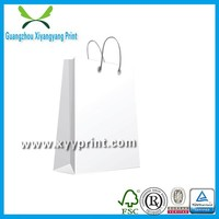 Recycled promotion wholesale custom paper shopping bag printing, paper shopping bag made in China