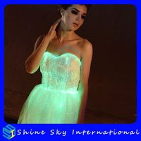 Fashionable Optic Fiber Remote Control Flashing Clothing