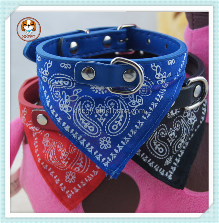 Dog Accessories Pet Products/ Dog Saliva Scarf/ cloth collar Dog Triangular Bandage Collar