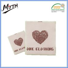 Custom fabric iron on woven clothing labels