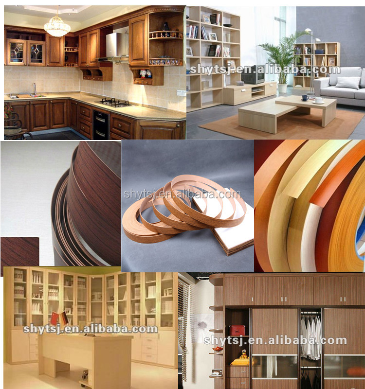 China edge banding factory woodworking wood finished furniture pvc edging
